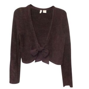 Anthropologie Moth Tie Front Cardigan Sweater